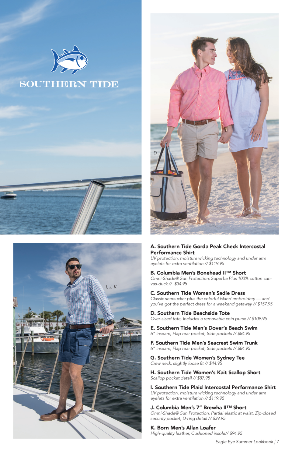 D  A. Southern Tide Gorda Peak Check Intercostal Performance Shirt  UV protection, moisture wicking technology and under a...